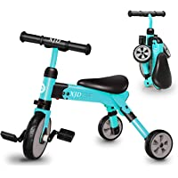 XJD 2 in 1 Kids Tricycles for 2 Years Old and Up Boys Girls Tricycle Kids Trike Toddler Tricycles for 2-4 Years Old Kids…