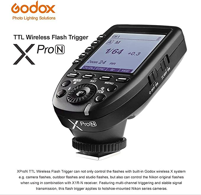 Large Screen 11 Customizable Functions 1//8000s HSS Godox Xpro-N TTL Wireless Flash Trigger Transmitter for Nikon TTL-Convert-Manual Function 5 Dedicated Group Buttons Case of 20 Pcs