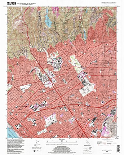 Beverly Hills CA topo map, 1:24000 scale, 7.5 X 7.5 Minute, Historical, 1995, updated 1999, 26.9 x 21.5 IN - - Century Santa Monica City