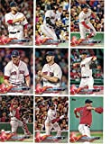 Boston Red Sox / Complete 2018 Topps Series 1 & 2 Baseball 21 Card Team Set! Includes 25 bonus Red Sox Cards!