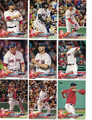 Chris Sale Baseball (Boston Red Sox / Complete 2018 Topps Series 1 & 2 Baseball 21 Card Team Set! Includes 25 bonus Red Sox Cards!)