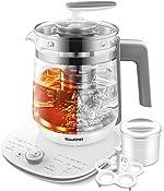 ICOOKPOT Electric Kettle Temperature Control Glass Tea Kettle Programmable Control Tea