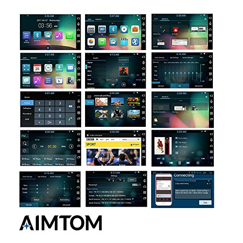 AIMTOM AMJK-101AD 2015-2018 Jeep Wrangler JK In-dash GPS Navigation Android Stereo Bluetooth A2DP 10.1 Inch HD Touch Screen AV Receiver FM AM Radio Multimedia Player Built-in Wi-Fi Infotainment System by AIMTOM (Image #1)