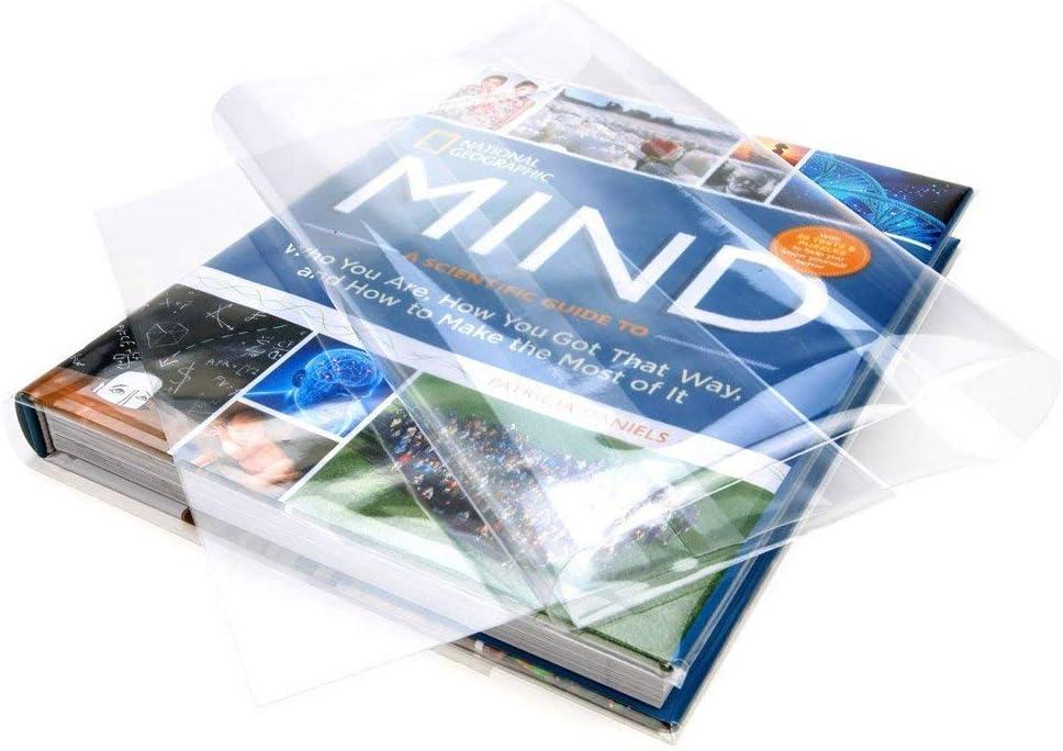 KINLO Lámina protectora para libros autoadhesiva, transparente, 60 x 500 cm, PVC, resistente al agua, para libros y cuadernos en la escuela o la oficina