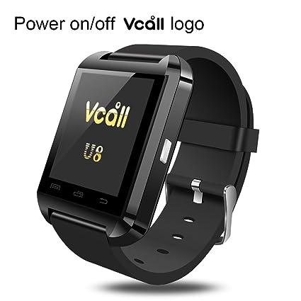 Vcall nueva U8 Bluetooth reloj inteligente SmartWatch Reloj de pulsera batería de larga vida teléfono mate