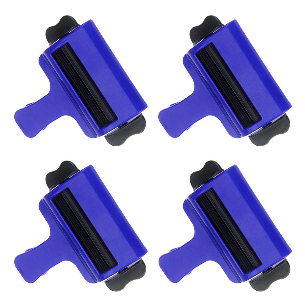 großer Blauer Zahnpastaquetscher Hochwertiges Kunststoff Rohr Quetscher 4 Satz Einfacher Praktische Design Home & Friseurladen Einsatz Daptsy
