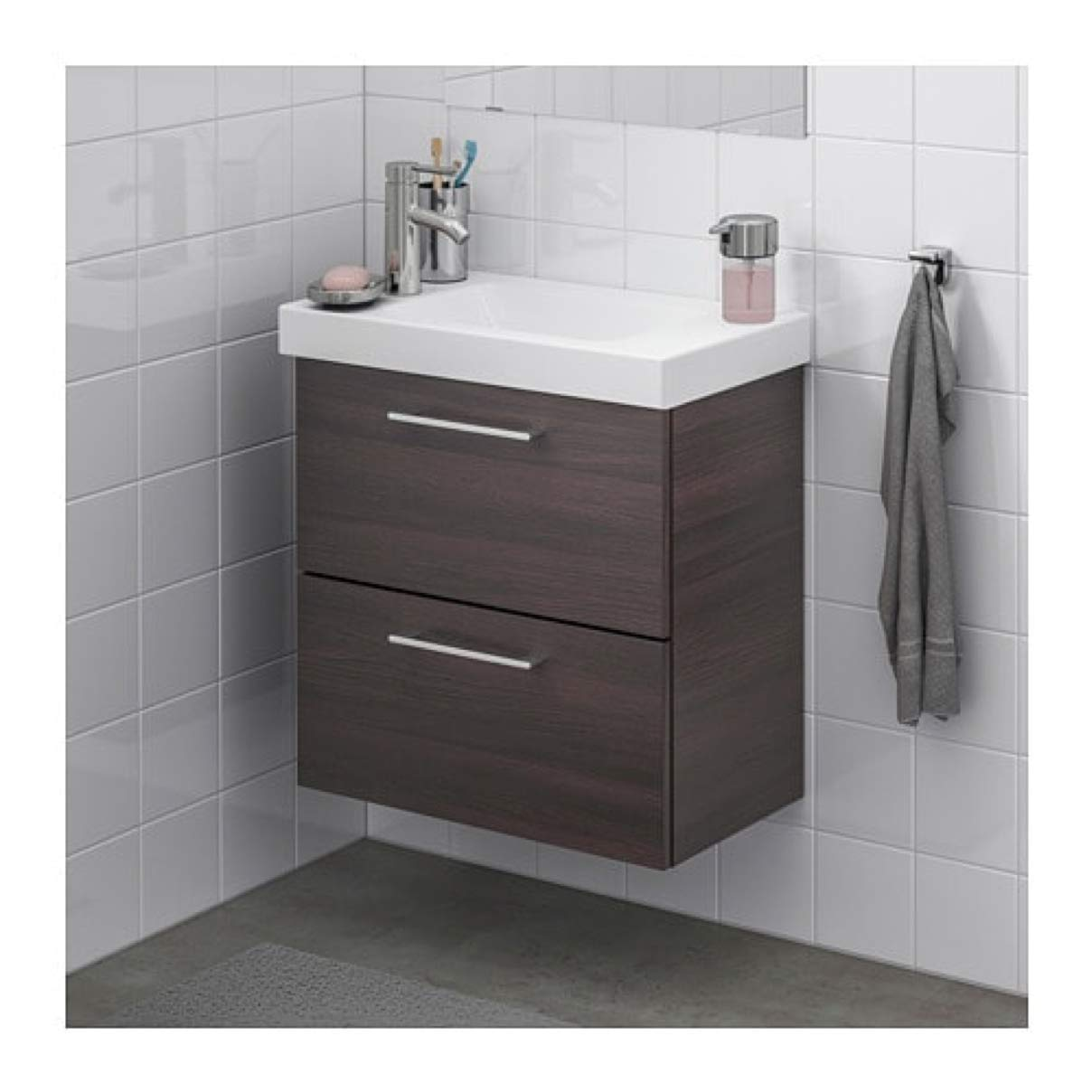best website 06d39 5aa7d Amazon.com: IKEA Godmorgon/Hagaviken Sink Cabinet with 2 ...