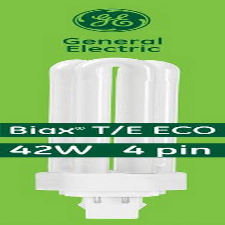 GE Lighting Energy Smart CFL 97636 42-Watt, 3200-Lumen Triple Biax Light Bulb with Gx24-Q4 Base, 10-Pack