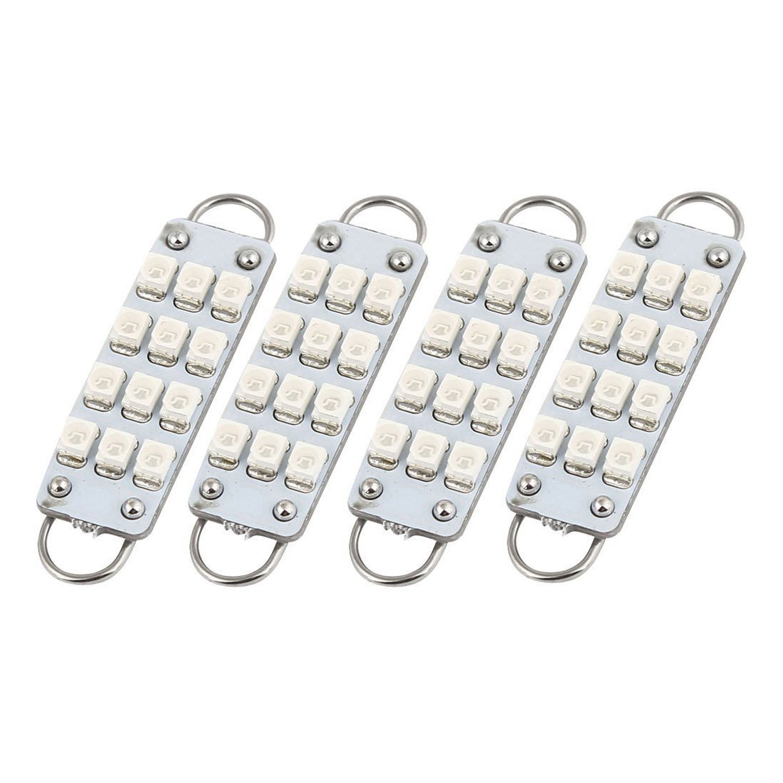 LED Light - SODIAL(R) 4PCS 44mm 12-SMD Rigid Loop Blue Festoon LED Light 061953