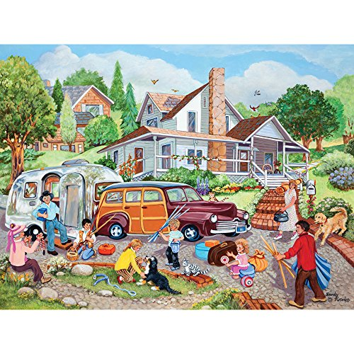Bits and Pieces - 500 Piece Jigsaw Puzzle for Adults - Departure Day - 500 pc American Summer Jigsaw by Artist Sandy Rusinko