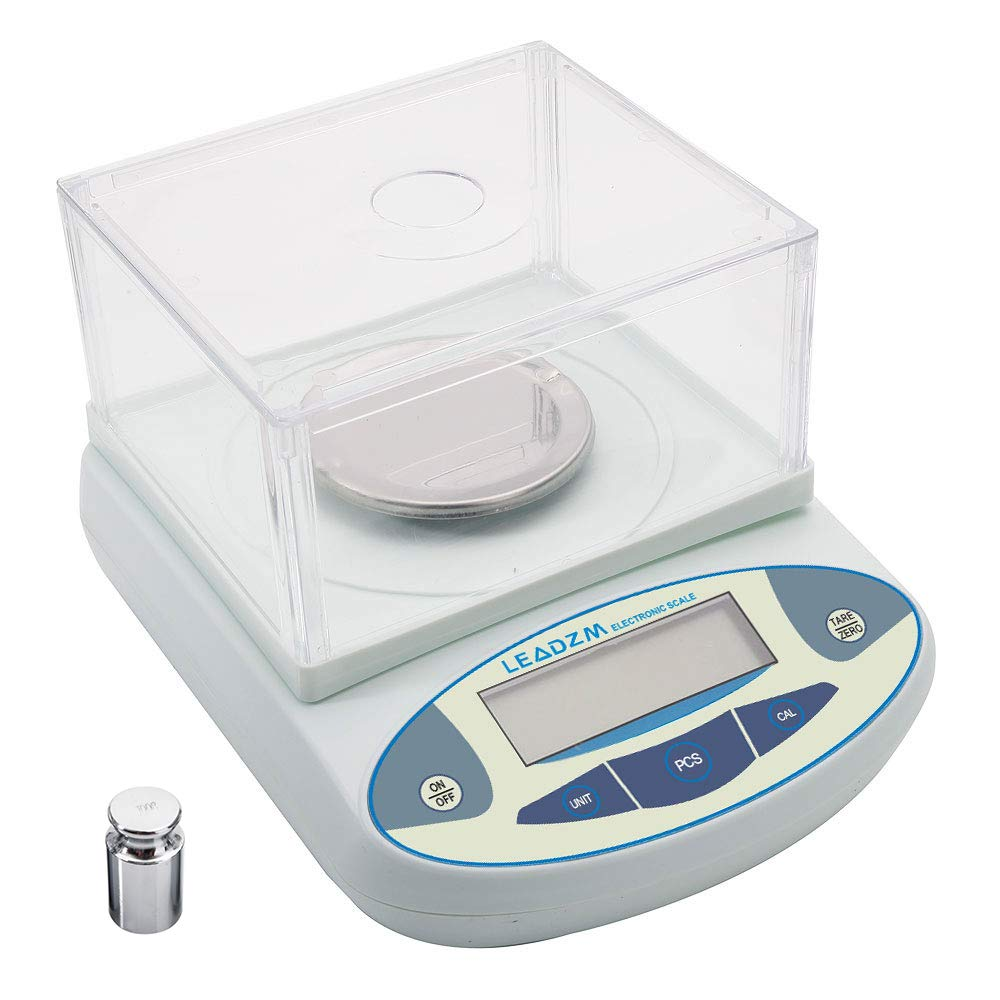 300g / 0.001g Portable Electronic Balance Laboratory Scale with Windshield Analytical High Precision Digital Experiment Balance with Battery LCD 0.01g Scientific Lab Instrument with 200g Calibration