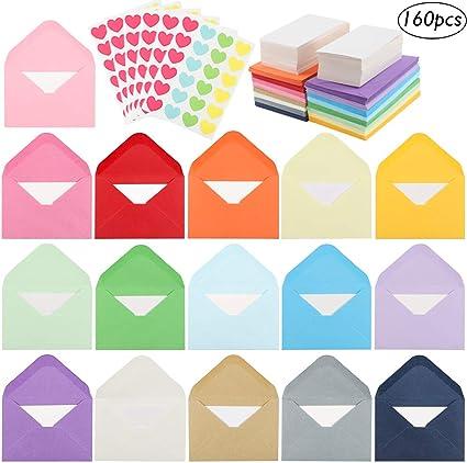 Amazon.com: JPSOR 16 colores 160 sobres pequeños ...
