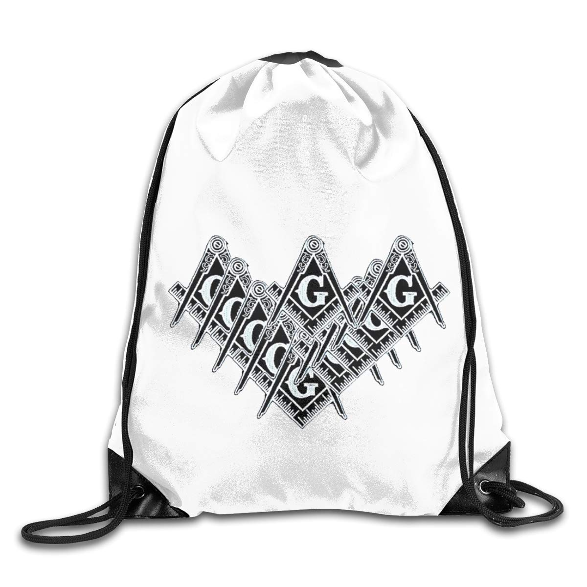 Freemason Logo Square And Compass Drawstring Bags Eat Sleep Dance Repeat Beam Mouth Backpack Basketball Tennis Gympack