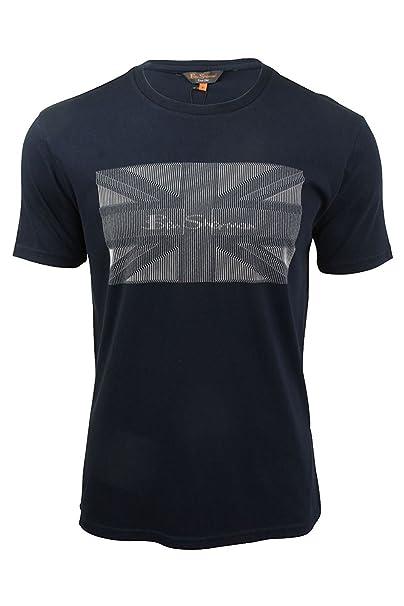 Ben Sherman - Camiseta - Manga Corta - para Hombre Azul Azul Marino XXXL 3b196bfd87f4d