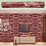 SimpleLife4U Brick Textured Decorative Contact Paper Self-adhesive Shelf and Drawer Liner 17.7inch by 9.8 Feet