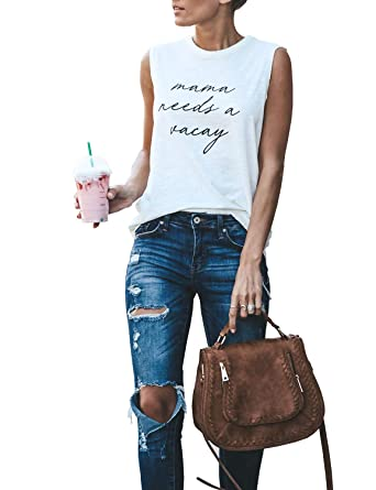 Bmjl Women's Casual Cami Tank Sleeveless Vest Print Summer Top Basic T Shirt by Bmjl