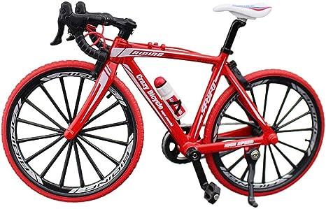 Doigt - Mini bicicleta de montaña de carretera, modelo Diecast Creative Sport regalo para niños jóvenes (rojo)
