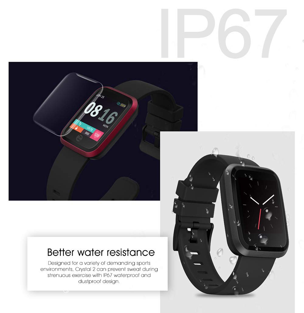 Amazon.com : Zeblaze Crystal 2 Smart Bracelet IP67 ...