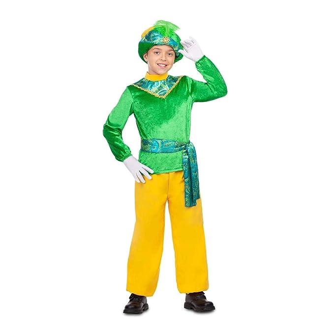 My Other Me Disfraz de PAJE Real Verde para niño: Amazon.es ...
