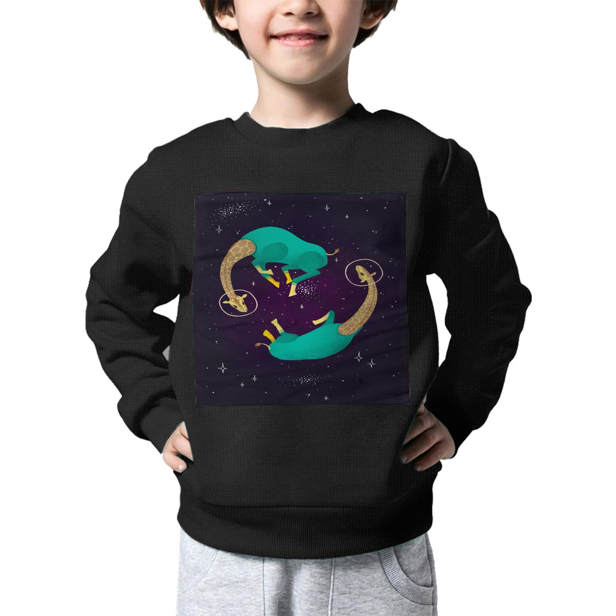 BaPaLa Space Giraffe Boys Pullover Sweater Lovely Crew Neck Knitted Sweater for 2-6T