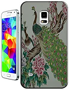 The Chinese painting with Peafowl beautiful flowers cell phone cases for Samsung Galaxy N3