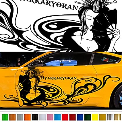 Goddess japan style car sticker car vinyl side graphics 227 car vinylgraphic custom stickers