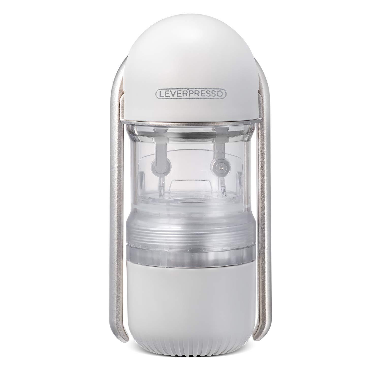 LEVERPRESSO : Portable Lever Espresso Maker (Pressurized Filter)(Light Grey) by LEVERPRESSO