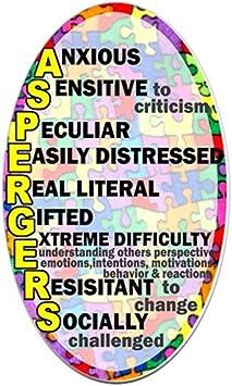 Cafepress Autismus Aspergers Aufkleber Oval Oval Bumper Sticker Kfz Aufkleber Weiß Small 3x5 Küche Haushalt
