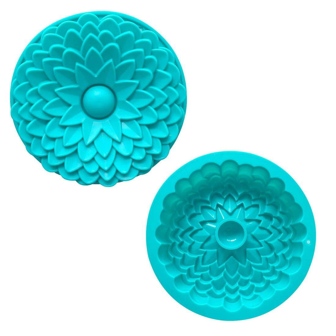 Bake Stencil - 1pc Silicone Chocolate Soap Mold Cake Stencil Flower Shape Mould Pastry Diy Baking Pan - Pack Square Non-stick Roll Sides Dish Shape Disposable Small Springform Heavy Basi