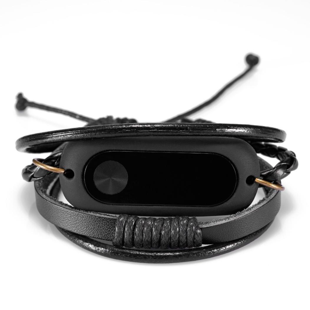 squarex Neue Mode Leder Armband Strap Ersatz für Xiaomi Mi Band 2 ...
