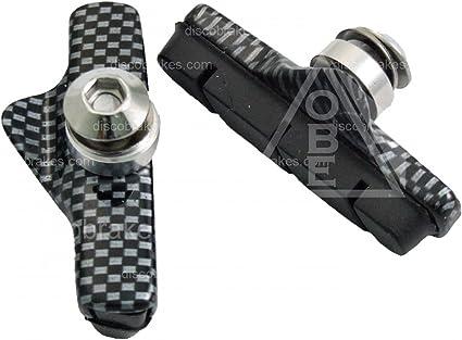 Carbon Cartridge /& Black Rubber Brake Shoes for Campagnolo Record Chorus Centaur