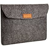 AmazonBasics 13-Inch Felt Laptop Sleeve - Charcoal