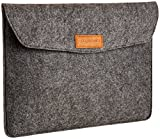 AmazonBasics 13-Inch Felt Laptop Sleeve Charcoal (Small Image)