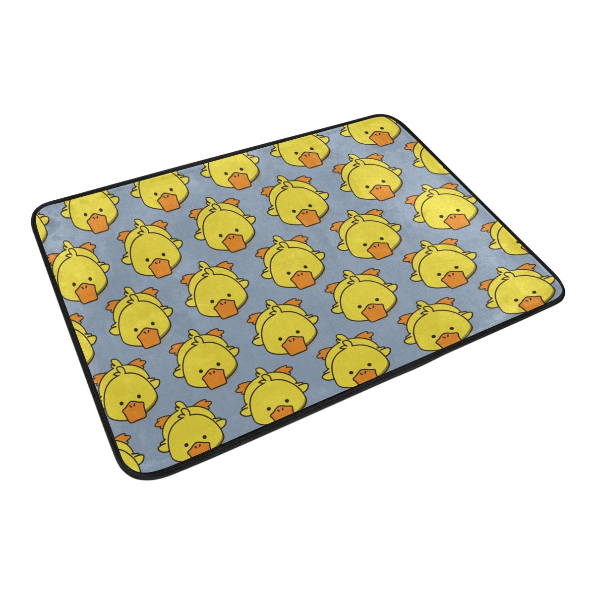 LNXR Cute Duck 1 Waterproof Shower Curtain and mats Rugs Set for Bathroom