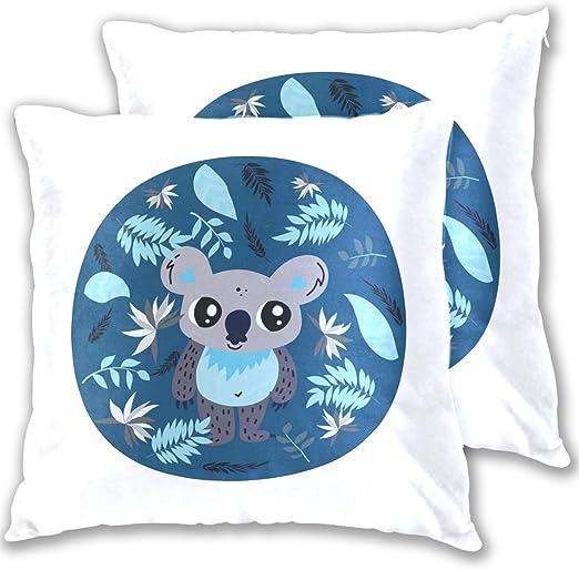 """18/"""" Fashion Koala Cotton Linen Sofa Pillow Case Throw Cushion Cover Home Decor"""