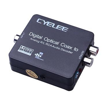 Cyelee Convertidor Digital a analógico de audio, control de volumen, entrada ó