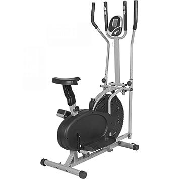 Gorilla Sports - Bicicleta estática y elíptica 2 en 1