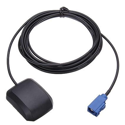 Dibiao - Amplificador de señal de antena universal para coche (3 m ...