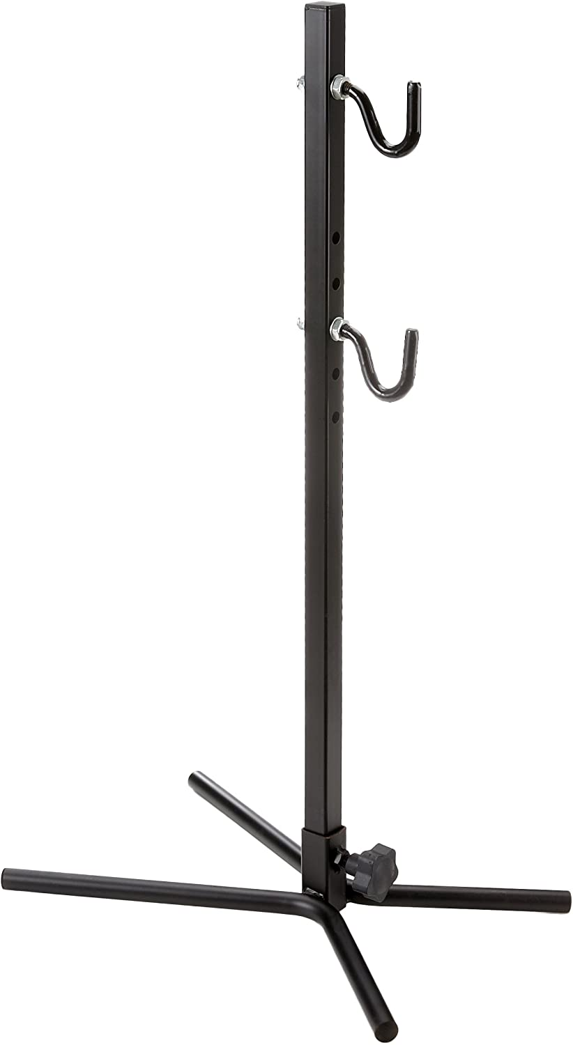 Point 13600201 Bicycle Display Stand with Rubberised Hooks Adjustable for Any Frame Type Black