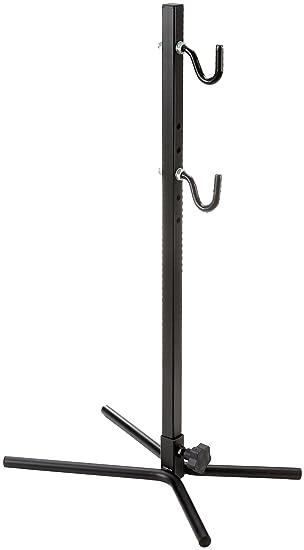 Point 13600201 - Soporte de pie para bicicletas (con ganchos recubiertos con goma, ajustable para todos los marcos), color negro: Amazon.es: Deportes y aire ...