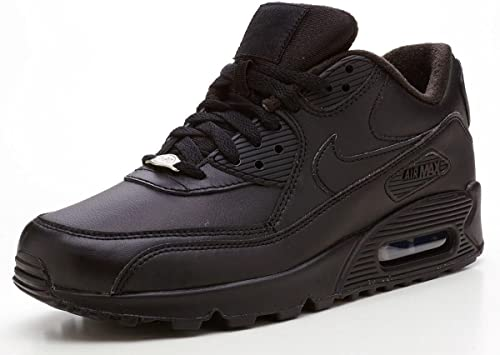 capital rumor intimidad  Nike Air Max 90 Leather black trainers 302519 001 [UK 10]: Amazon.co.uk:  Shoes & Bags