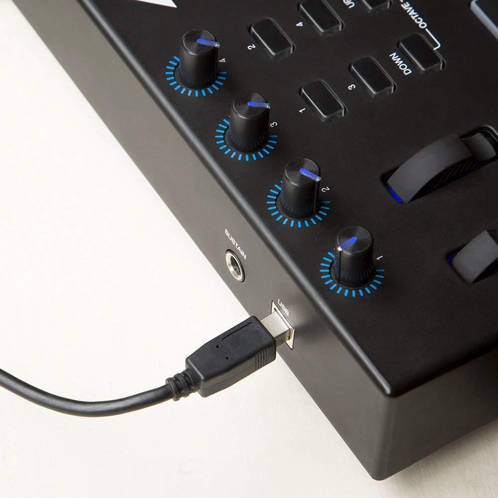 Alesis V25 25-Key USB MIDI Keyboard Controller & Drum Pad with Gator Bag & Studio Headphones by Alesis