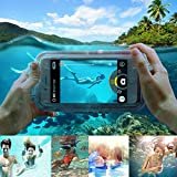 Waterproof Case For iphone 6S 6, 6S Plus, 7, 7plus, For Samsung Galaxy S7, S6 Diving Swimming Remote Control Dustproof Smartphone Cover Outdoor Activities IPX8 30M Depth Bluetooth