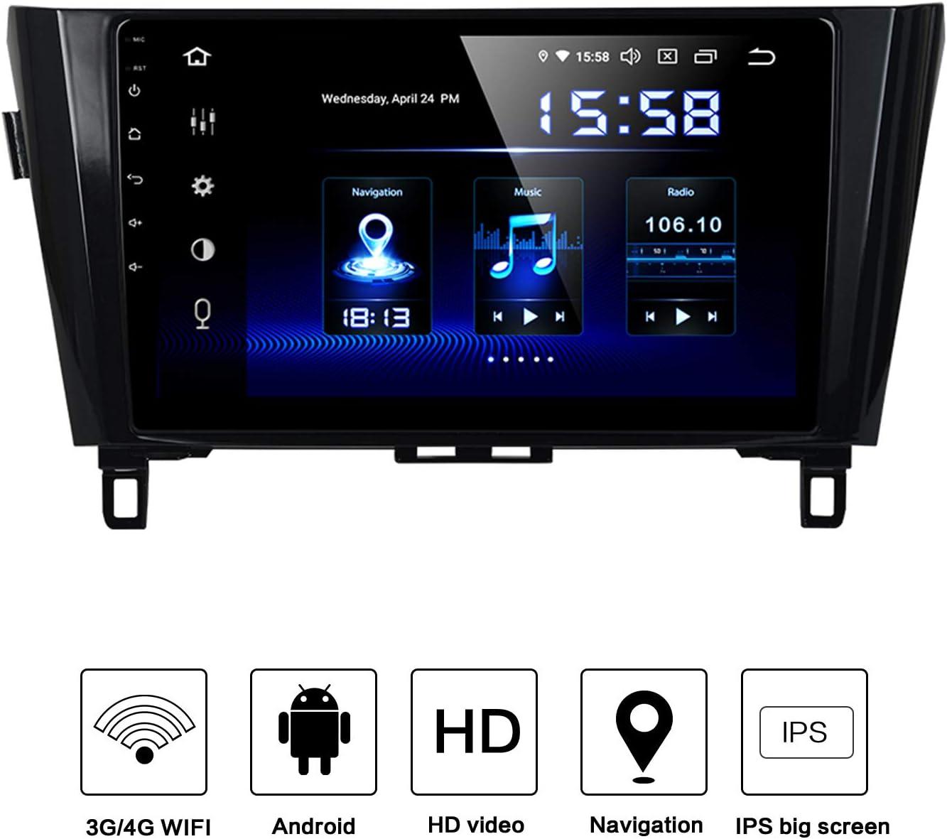 "Dasaita Android 9.0 Car Radio Audio Stereo for Nissan X-Trail Qashqai 2014-2017 Bluetooth GPS Navigation Head Unit Car Vehicle Music Video Player Multimedia 10.2"" Touchscreen Hexa Core 4G+64G 61fhaIIRa5LSL1500_"