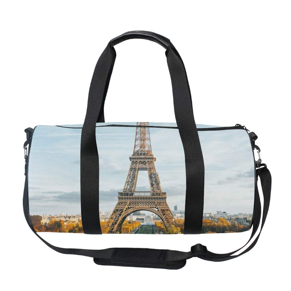 Beautiful Eiffel Tower Duffle Bag for Travel Gym Sports Lightweight Luggage Duffel Bags