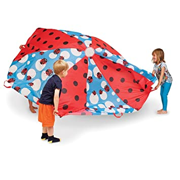 Pacific Play Tents Kids u0026quot;Lady Bugu0026quot; 8 Foot Parachute with handles u0026 Carry  sc 1 st  Amazon.com & Amazon.com: Pacific Play Tents Kids