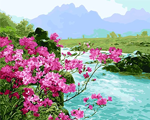 Scenery Oil Painting - CX-156/Spring Themed DIY Digital Oil Paintings By Numbers Naturally Scenery Wall Art Canvas Painting Home Decoration Improvement Artwork (No Frame)