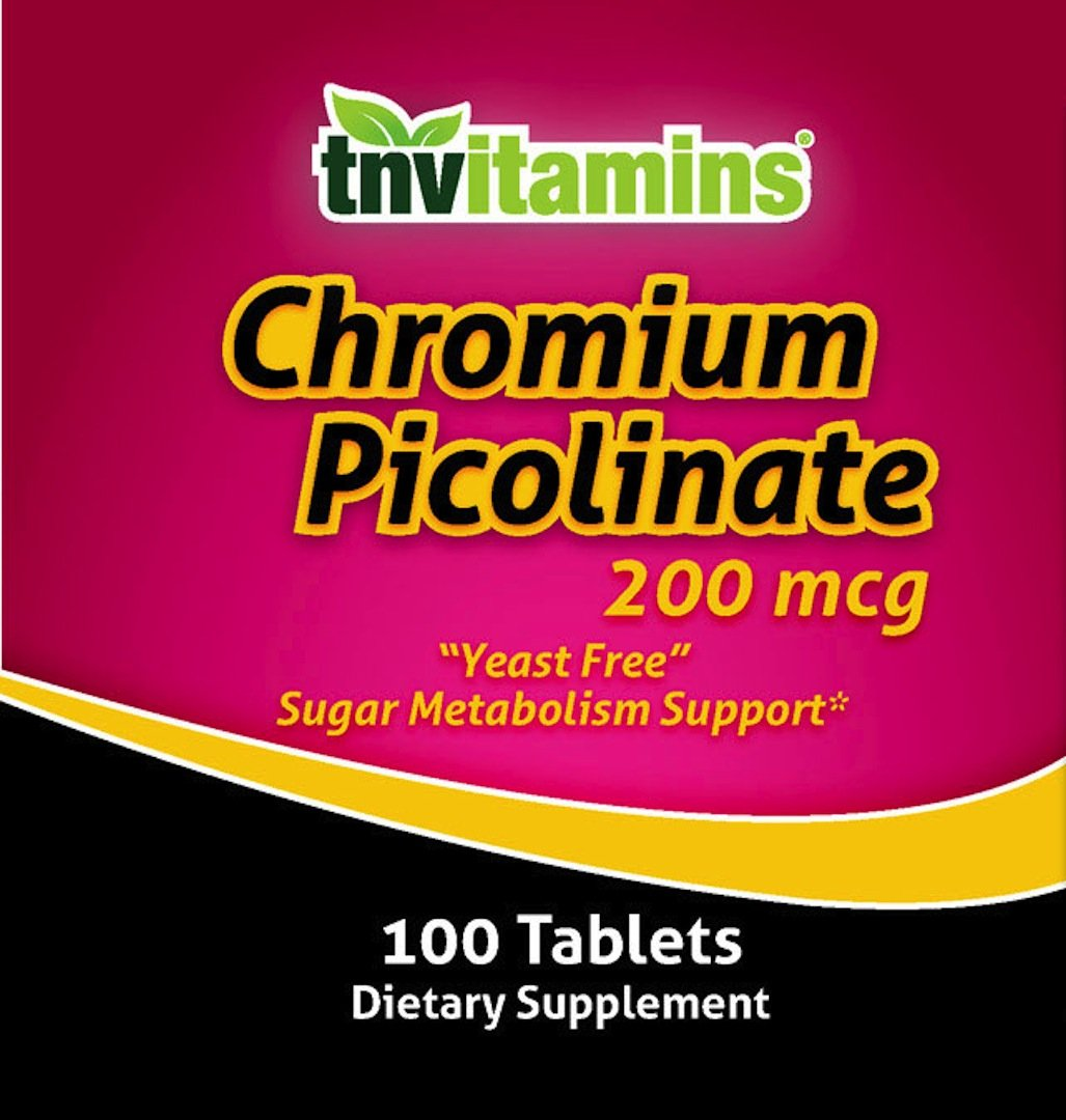TNVitamins Chromium Picolinate 200 Mg 100 Capsules by TNVitamins (Image #2)