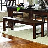 Homelegance Schleiger 66'' Dining Bench, Burnished Brown