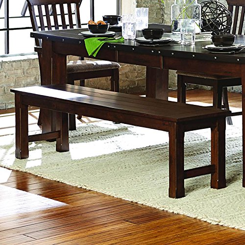 Homelegance Schleiger 66'' Dining Bench, Burnished Brown by Homelegance